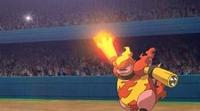 P11 Magmortar usando puño fuego