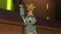 EP868 Chespin y Clembot festejando