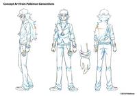 Concept Art de Pokémon Generations de N