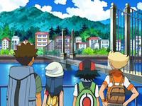 Archivo:EP572 Brock, Maya, Ash y Barry contemplando ciudad Canal.png