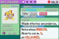 Pokémon esmeralda esp Jirachi
