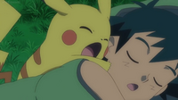 EP901 Pikachu afectado por mal sueño