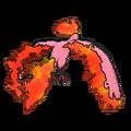 Imagen posterior de Moltres variocolor en la sexta generación
