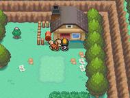 Vista exterior de la casa del Sr. Pokémon en HGSS