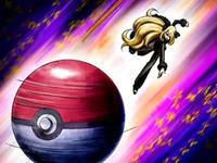 Archivo:EP565 Cintia enviando a su Pokémon.png