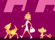 Lucy con sus Pokémon