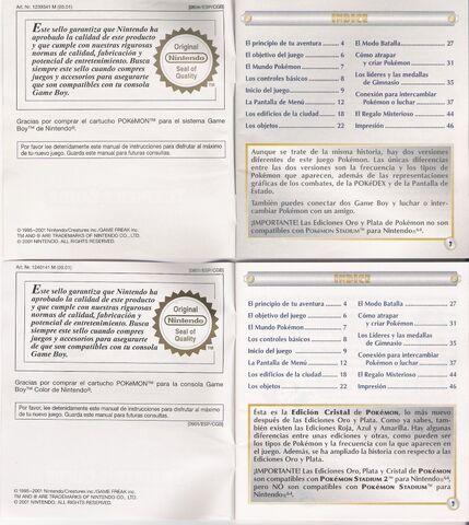 Archivo:Scan contraportada instrucciones de juego Pokémon Plata y Cristal.jpg