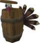 Turkey in barrel