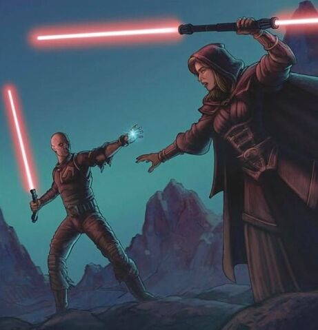 Archivo:Darth Bane vs Darth Zannah.jpeg