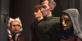 Tarkin con Anakin viendo a Ahsoka y Barriss para arrestar a Una.png