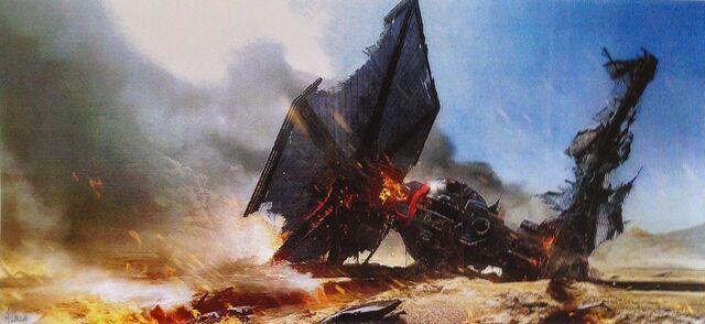 Archivo:Concept Art - TIE-Fighter Down.jpg