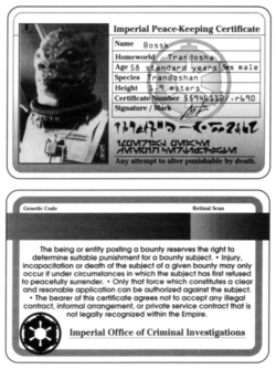 Imperial Peace Keeping Certificate (Bossk).png