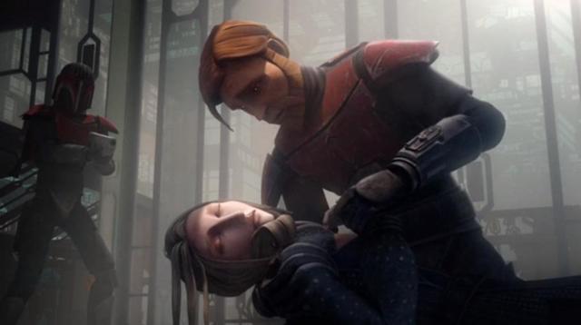 Archivo:Obi-Wan holds Satine.JPG