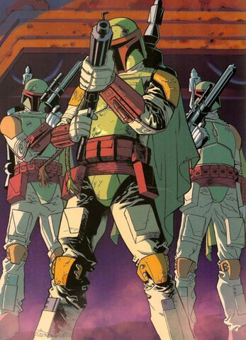 Archivo:Mandalorians led by Boba Fett.jpg