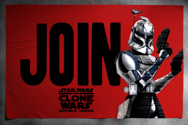 Archivo:Star Wars - The Clone Wars - Republic Heroes -- Rex advertising.png