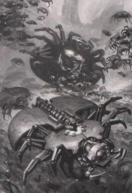 Arañas Canopticas Necron Apoyo Pesado Wikihammer.jpg