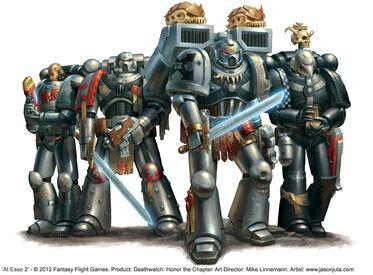 Guardianes de la Muerte Aguilas de Perdicion Angeles de Fuego Caballeros del Cuervo Craneos Plateados Ordo Xenos Wikihammer