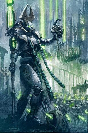 Lider Supremo Necron Nemesor Zahndrekh Conquista de Uttu Prime Wikihammer.jpg