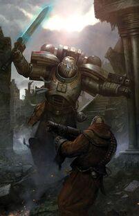 Caballeros Grises Hereje Espada Energía 2