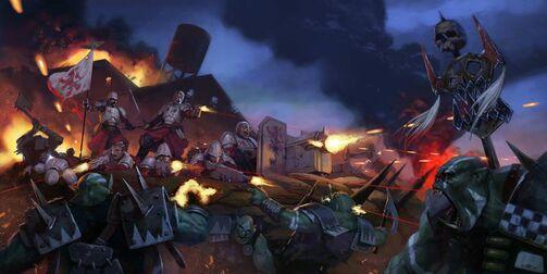 Masacre del Río del Gran Colmillo Praetorianos vs Orkos.jpg