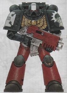 Veterano de la Guardia 8ª Escuadra 1ª Compañía Señores de Hierro 6ª Edición ilustración