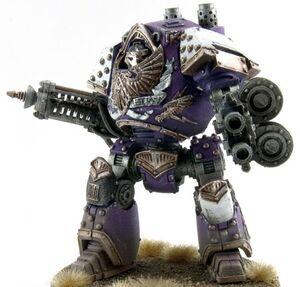 Rayo de Conversion Dreadnought Contemptor Hijos del Emperador Gran Cruzada Wikihammer.jpg