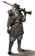 Gi guerrera de los incursores del desierto de Tallarn