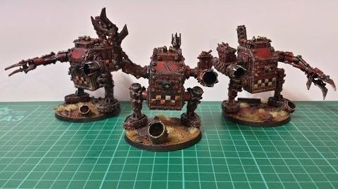 Warhammer 40k Ork Army scratch built killa kans MkII part 2