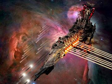 Flota Intervención Macrobateria Lateral Andanada Flota Imperial Wikihammer