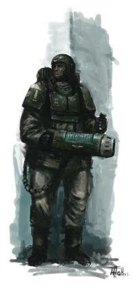 GI soldado deCadia con arma de plasma