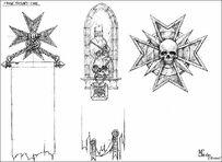 Iconos templarios negros