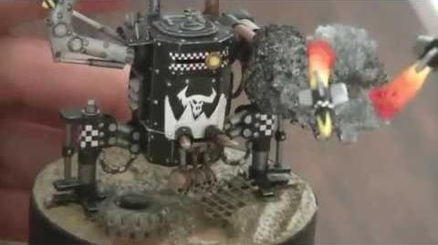 Warhammer 40K orks papercraft miniatures