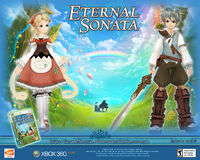 Eternal Sonata Promotional Wallpaper - Allegretto, Frederic and Polka