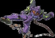 Unit 01 performing a flying kick
