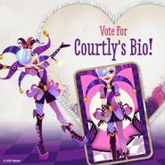 Facebook - vote for Courtly's bio