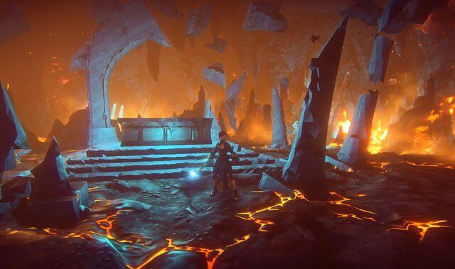 File:Human wizard in magma chamber.jpg