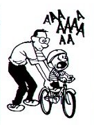 Calvin's bike lesson