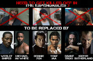 Expendables 3 replacement poster cast french site