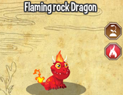 Flaming rock dragon lv1-3