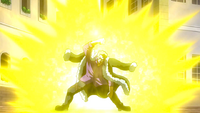 Laxus blocks Rufus' attack