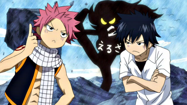 File:Natsu and Gray describing Erza.JPG