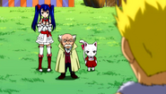 Laxus looking at Makarov