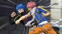 Natsu punches Jellal
