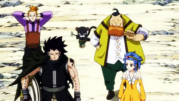 File:Gajeel, Pantherlily and Shadow Gear Head Home.png
