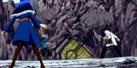 Gray Fullbuster, Lyon Vastia & Juvia Lockser vs. Labyrinth Guardian
