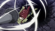 Erza penetrates through Cube