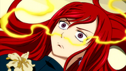 Erza is defeated by a Point Blank Ecstasy