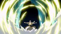 Natsu deflects Jellal's attack