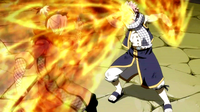 Natsu expands his flame