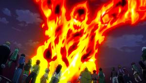 Atlas Flame attacks Fairy Tail